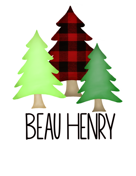 Buffalo Plaid Tree Trio - Graphic Tee
