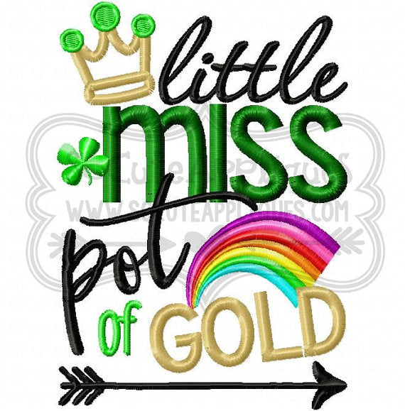 Little Miss Pot of Gold - Embroidered Tee