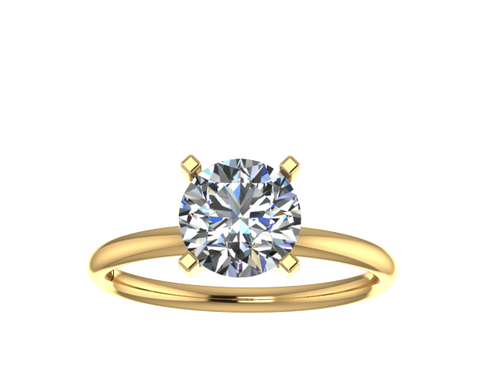 R1001 - 4 Prong Comfort Fit Solitaire Ring