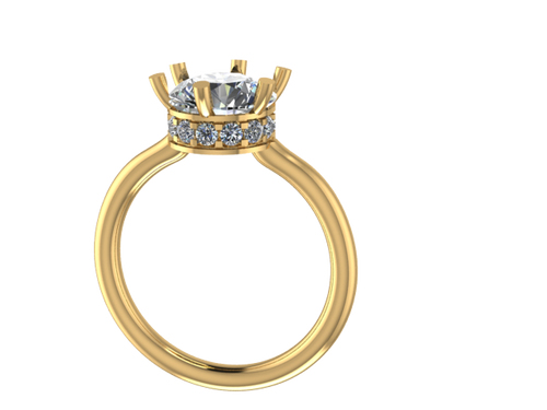 R1105 - Round Ring w/ Side Halo