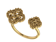 R1151 - Dual Clover Shaped Ring