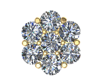 Round Diamond Cluster Earring