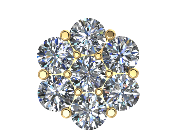 RDCLE 5 : Round Diamond Cluster Earring