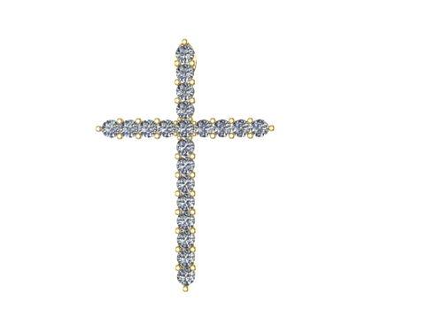 C1101 - 2.2 mm Cross Charm