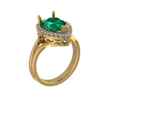 R5104 - Pear Halo Ring