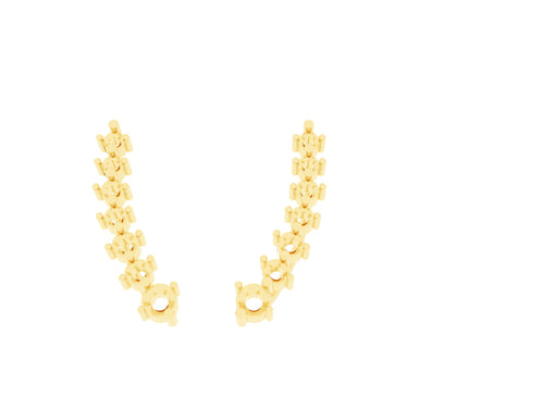 FE1104 - Climber Earrings ( Stone Size-3.8mm, 3mm, 2.7mm, 2.5mm )