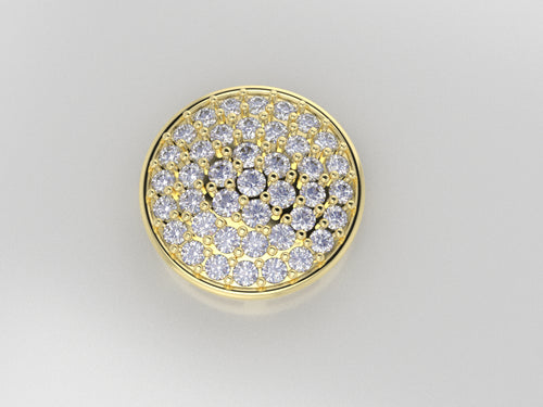 FE1113 - Round Cluster Earrings ( 1.7 mm, 1.6 mm , 1.5 mm )