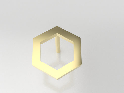 FE1106 - Hexagon Earrings