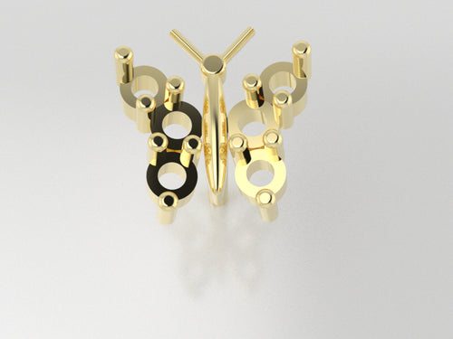 FE1109 - Butterfly Earrings (1.8 mm x 4 pcs, 2.0 mm x 2 pcs )
