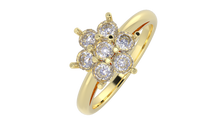 R1115 - Round 7 Stone Cluster Ring
