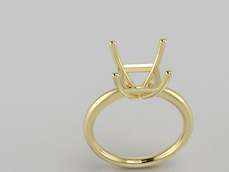 R2008 - Princess Solitaire Ring ( 8 mm x 8 mm )