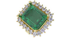 R4102 - Emerald 5 Prong 2.4 mm Halo Ring