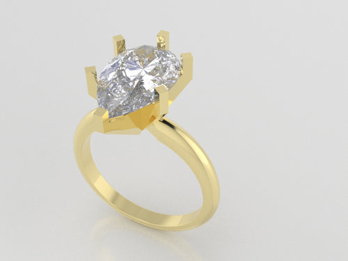 R5003 - Pear Solitaire Rings