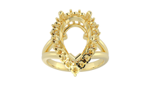 R5102 - 5 Prong Pear 2 mm Halo Ring