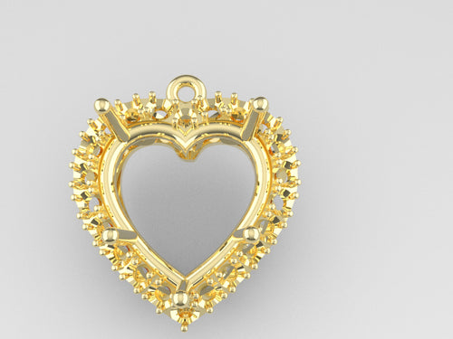 S7120 - Heart Halo Settings (12mm x 12 mm, Side -2 0 mm x 20 pcs )