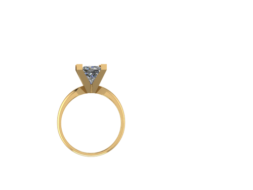 R2001 - V-Prong Princess Solitaire