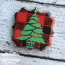 Buffalo plaid christmas tree w