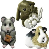 Sweet Elite Palm Pets Bunny, Guinea Pig, and Hamster Cookie Cutter Set