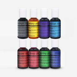 8 color Variety Pack Chefmaster Airbrush .7 oz