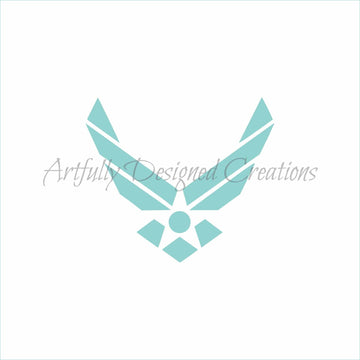 Air Force Logo Stencil