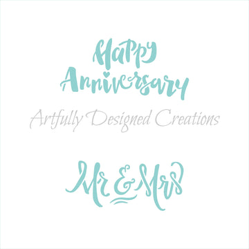 Happy Anniversary Mr and Mrs Stencil