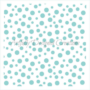 Polka Dots Assorted Stencil