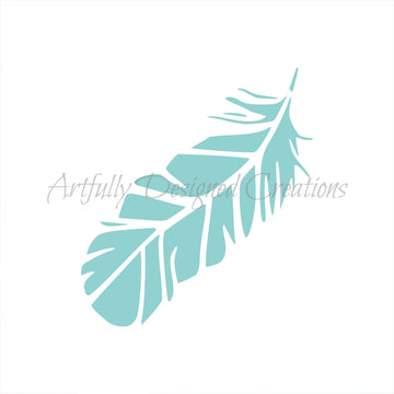 Blyss Large Feather Stencil