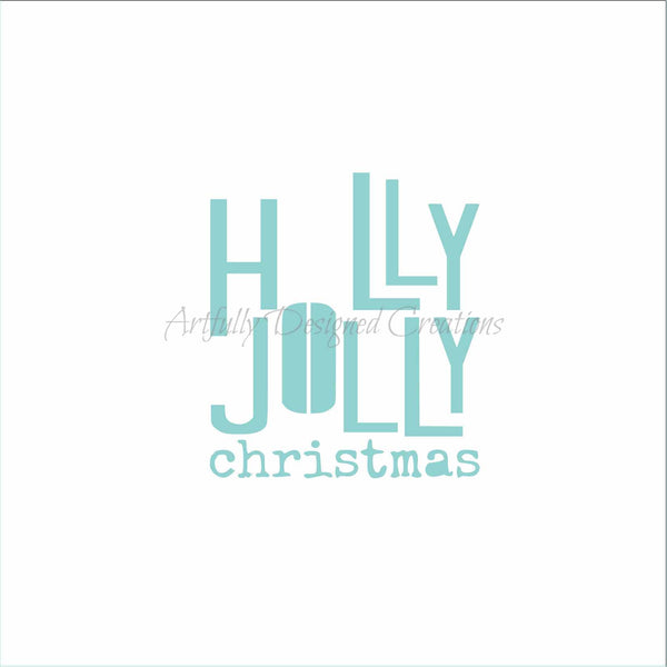 Blyss Small Holly Jolly Stencil