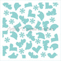 Winter Fun Stencil Background