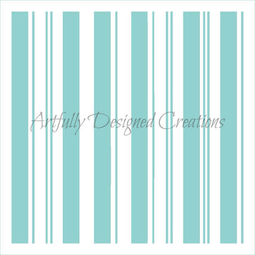 Candy Cane Stripes Stencil Background