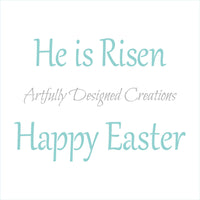Easter Titles Stencil