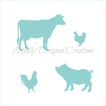 Farm Animals Stencil