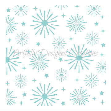 Fireworks Background Stencil