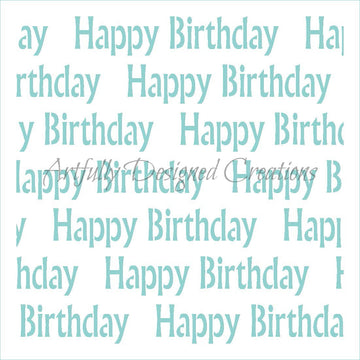 Happy Birthday Background Stencil
