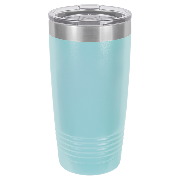 Laser Engraved 20 oz Polar Camel Tumbler with Clear Lid
