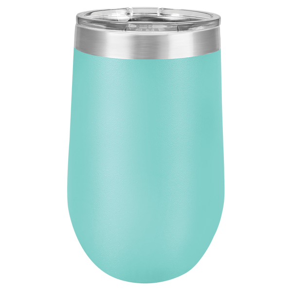 Custom Printed 16 oz Stemless Wine Polar Camel Tumbler with Clear Lid