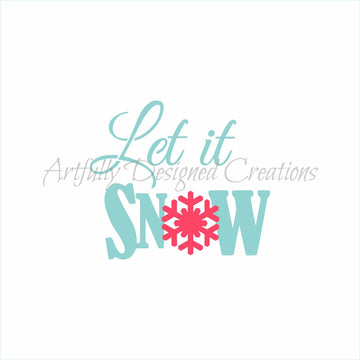 Let it Snow Stencil