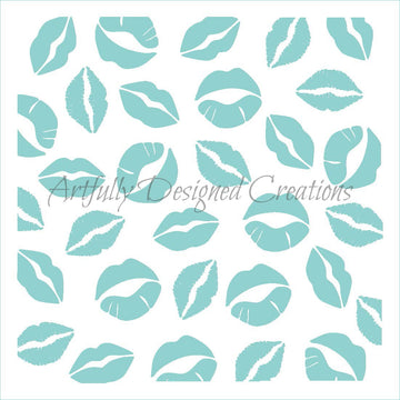 Lips Stencil Background