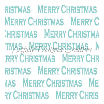 Merry Christmas Stencil Background