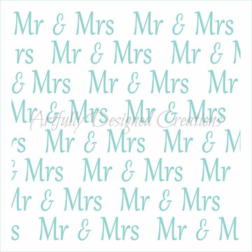 Mr and Mrs Background Stencil