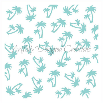 Palm Trees Stencil Background