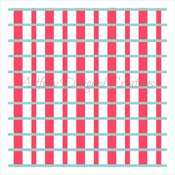 Plaid Stripes Stencil