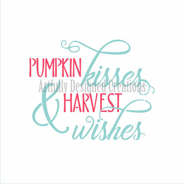 Pumpkin Wishes & Harvest Kisses 2 Part Stencil