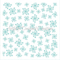 Retro Snowflake Stencil Background