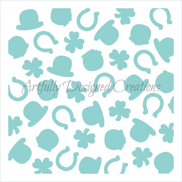 St. Patrick's Day Background Stencil