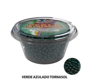 "Glitter Pearls ""Perlas Diamantadas"" 100 gm - Blue Green"