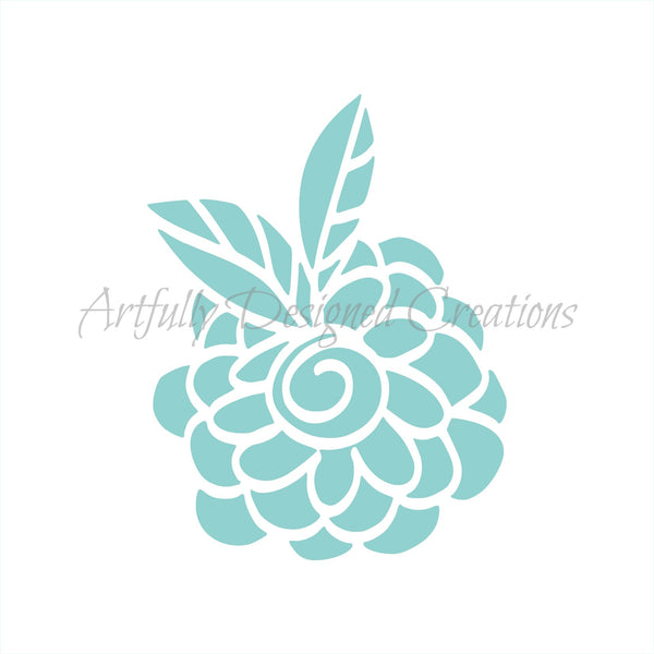 Whimsical Flower Stencil
