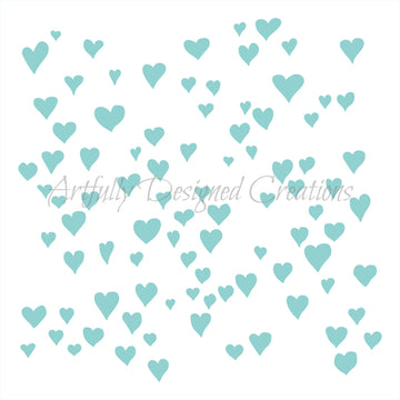 Whimsical Heart Background Stencil Background