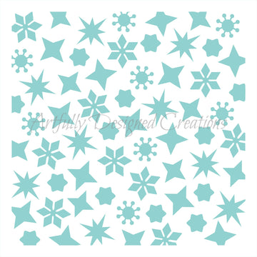 Winter Background Stencil Background