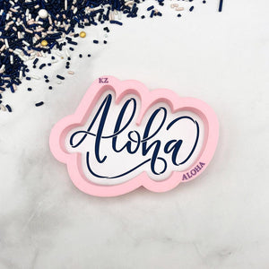 Aloha Hand Lettered Stencil Cutter Combo By Killer Zebras